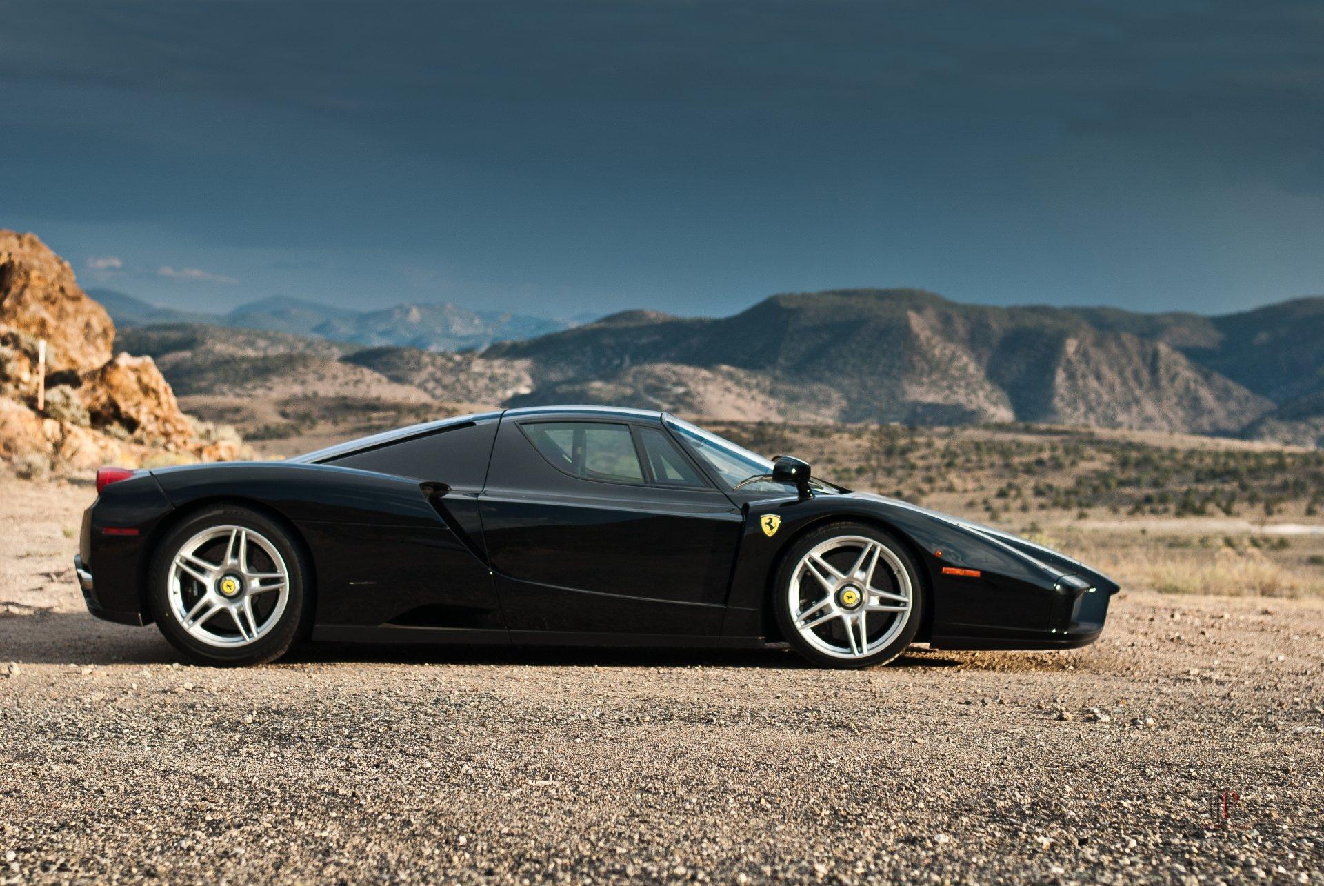 Black Ferrari 4K Wallpaper