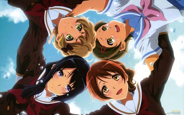 Anime Sound! Euphonium Hazuki Katou Reina Kousaka Kumiko Oumae Sapphire Kawashima HD Wallpaper | Background Image