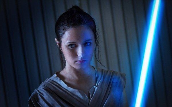 Women Cosplay Rey Star Wars Episode VII: The Force Awakens HD Wallpaper | Background Image