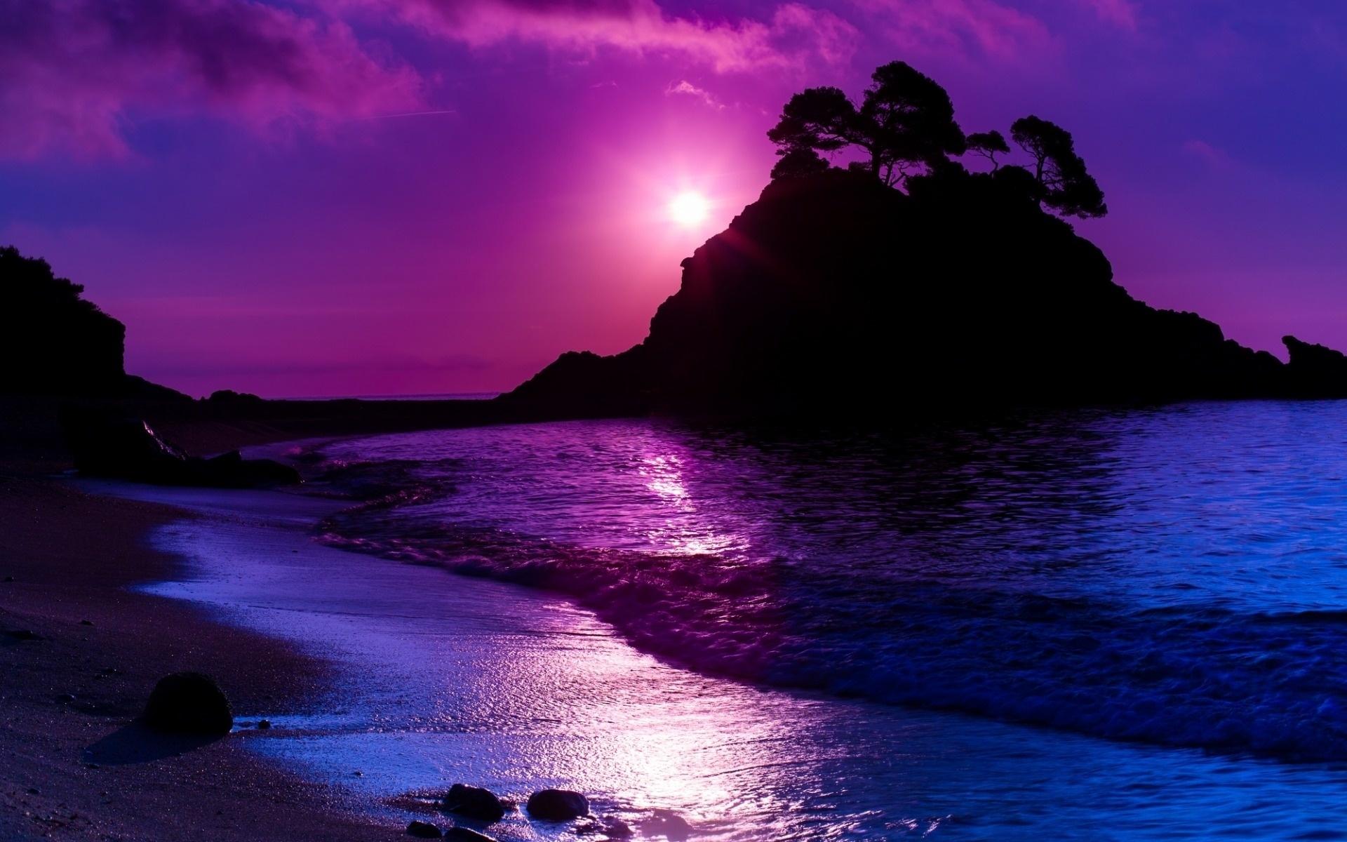 Purple Ocean Sunset HD Wallpaper | Background Image | 1920x1200 - Wallpaper  Abyss