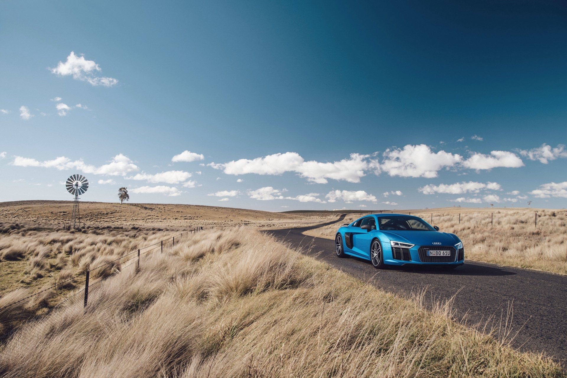 Vehicles - Audi R8  Audi Supercar Blue Car Audi R8 V10 Sport Car Car Vehicle Wallpaper