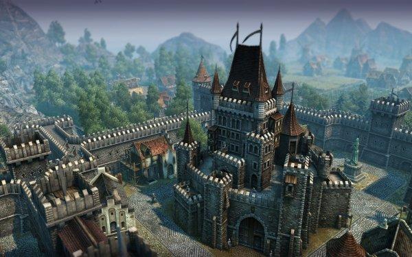 Video Game Anno 1404 Castle Architecture MediEvil HD Wallpaper | Background Image