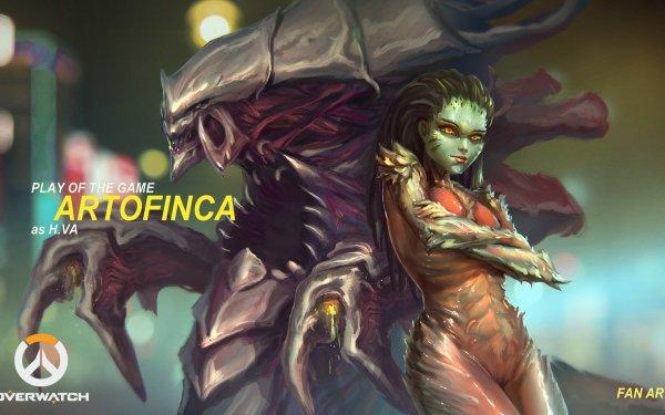 Video Game Crossover Overwatch Starcraft II D.Va Sarah Kerrigan HD Wallpaper | Background Image