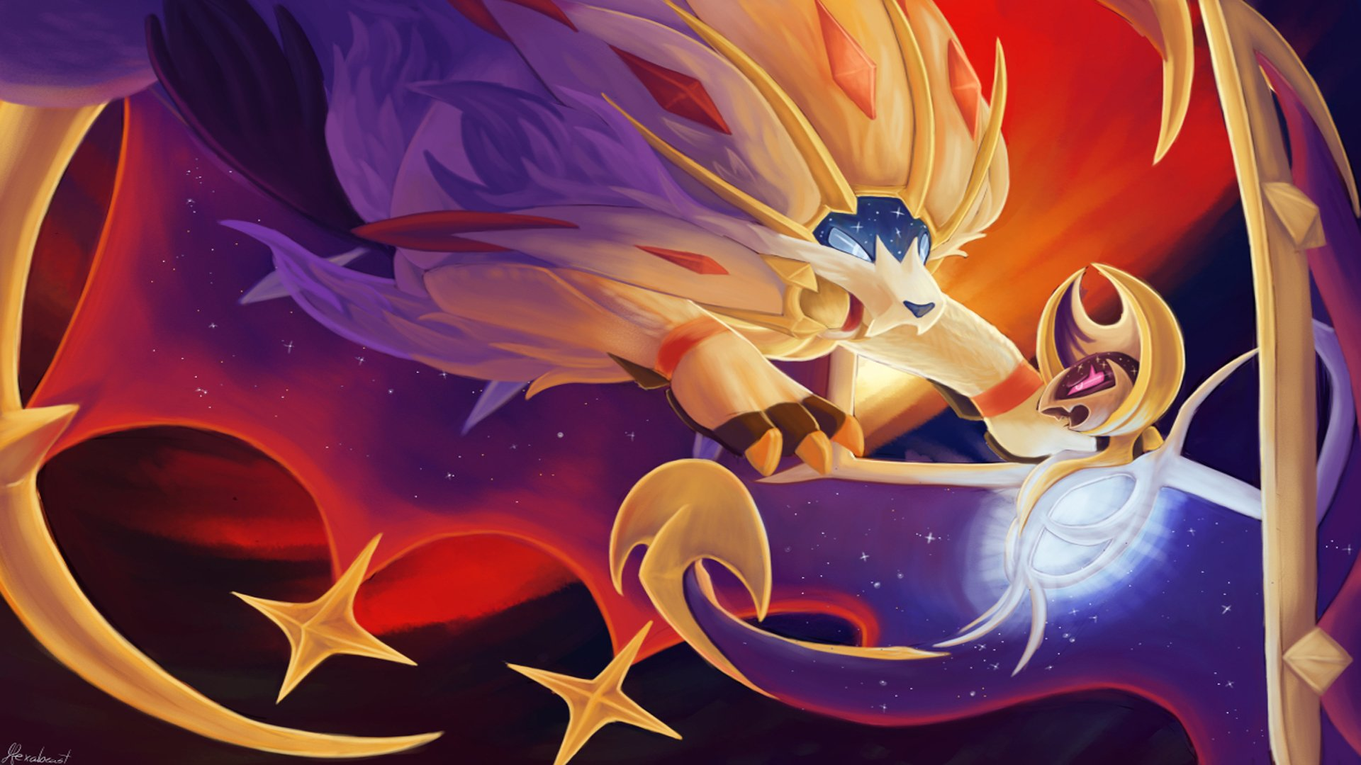 Pokemon Sun And Moon Wallpaper: Solgaleo And Lunala Computer Wallpapers, Desktop
