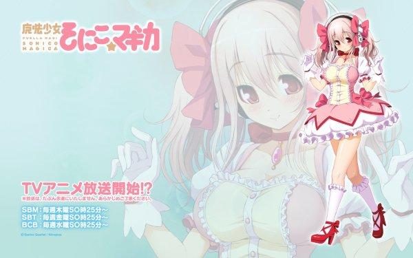 Anime Crossover Super Sonico Puella Magi Madoka Magica HD Wallpaper | Background Image
