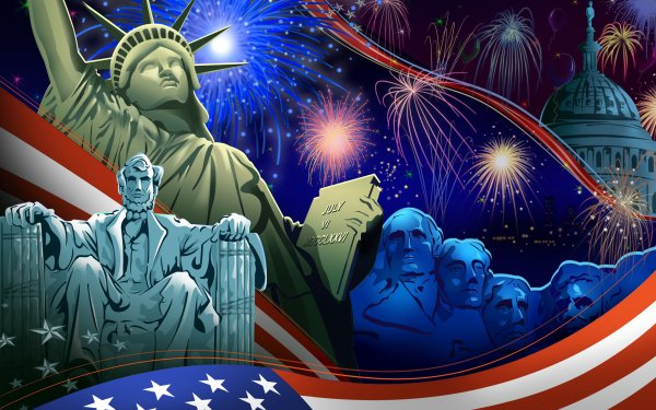 Holiday 4th Of July Statue of Liberty HD Wallpaper | Background Image