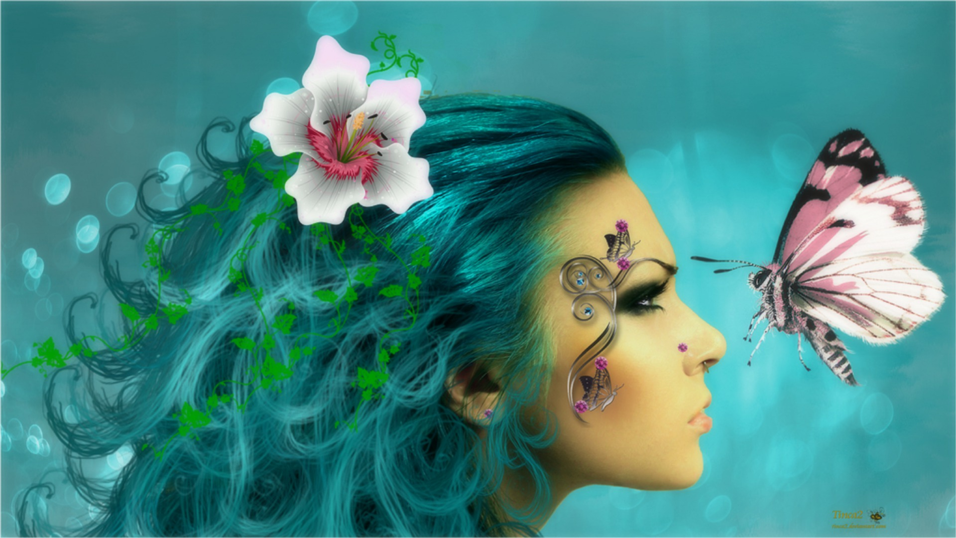 Butterfly Fantasy Girl HD Wallpaper   Background Image ...