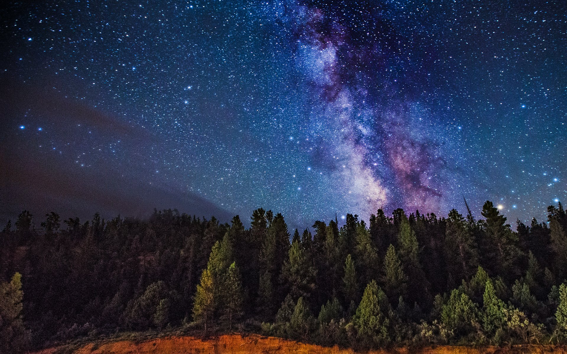 Milky Way Wallpaper 1920x1080 71 Images: Milky Way Over The Forest HD Wallpaper