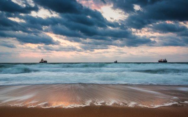 Earth Beach Ship Tanker HD Wallpaper   Background Image
