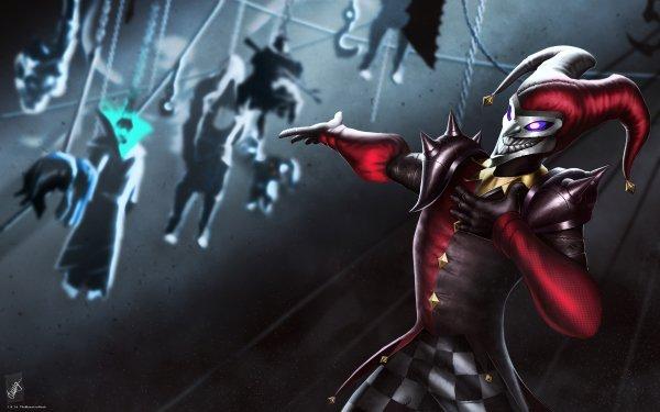 Video Game League Of Legends Shaco Dark Creepy Clown HD Wallpaper | Background Image