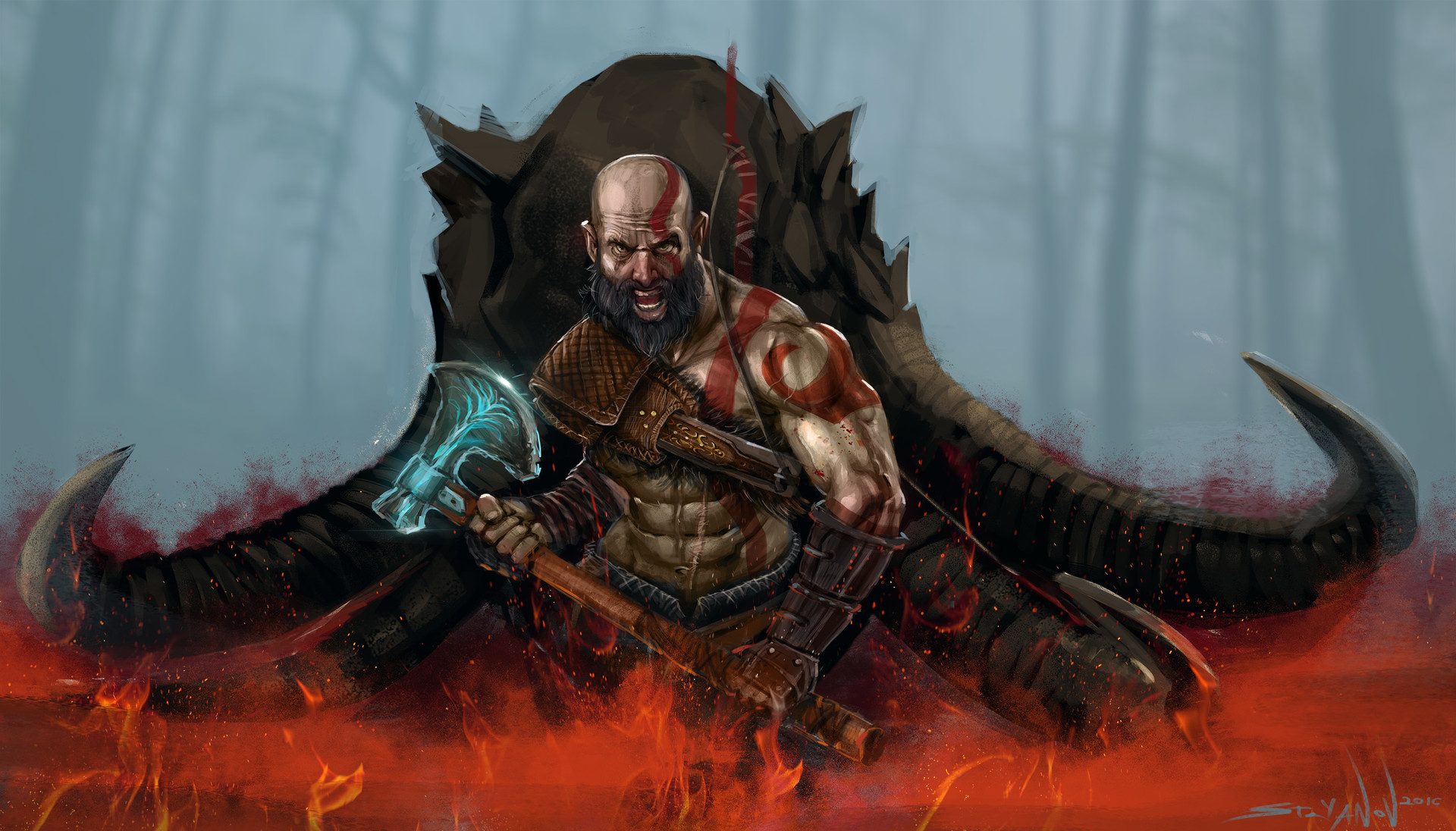 God Of War 2018 Hd Wallpaper Background Image