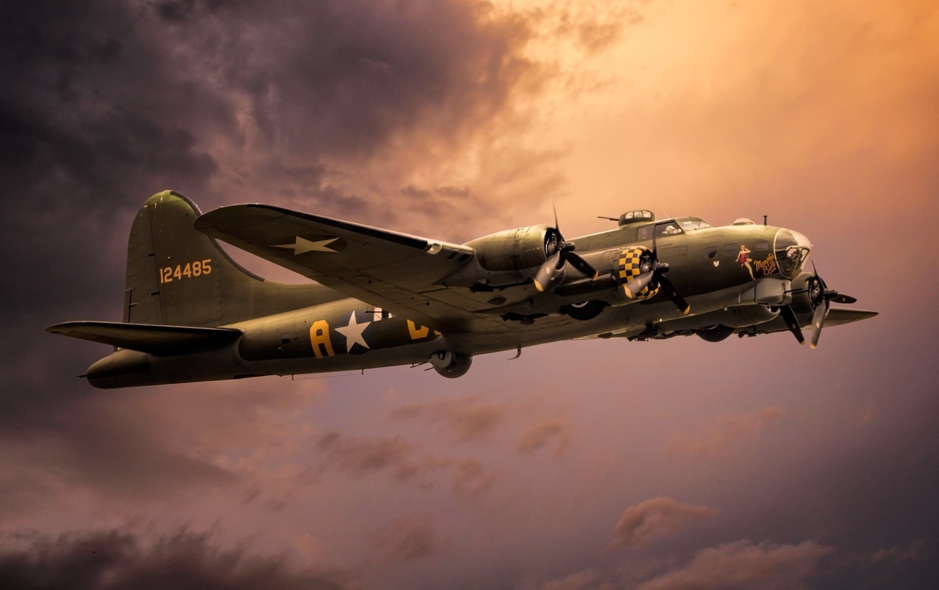 Military - Boeing B-17 Flying Fortress  Bomber Warplane Aircraft Air Force Airplane Military Wallpaper