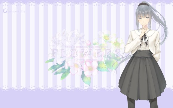 Anime Flowers HD Wallpaper   Background Image