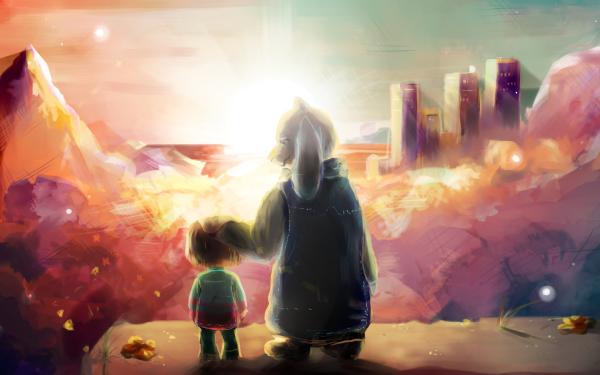 Video Game Undertale Frisk Toriel HD Wallpaper | Background Image