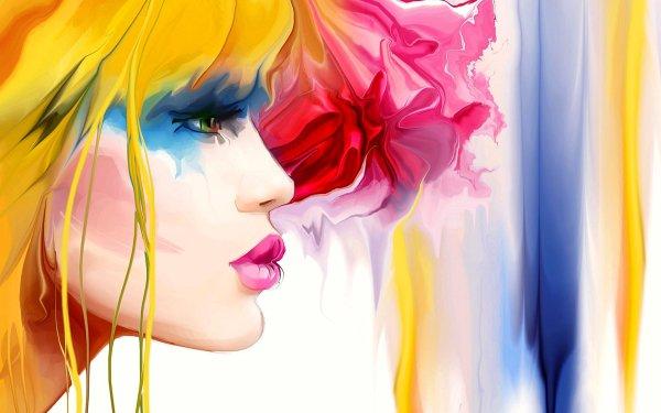 Women Artistic Colors Profile HD Wallpaper | Background Image
