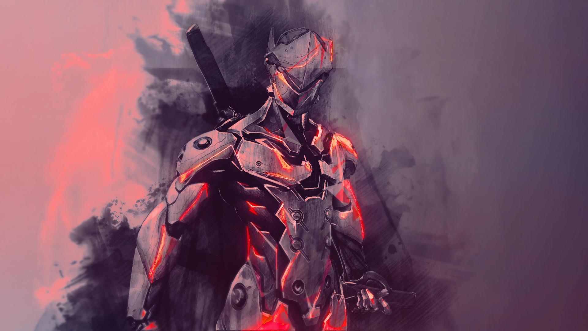 Red Genji Wallpaper Hd Wallpaper Background Image 1920x1080 Id