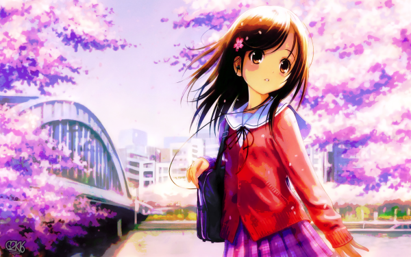 Anime Girl Colorful Bright HD Wallpaper | Background Image