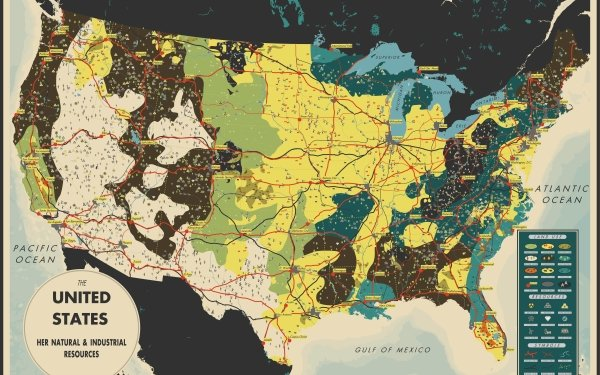 Misc Map United States HD Wallpaper | Background Image