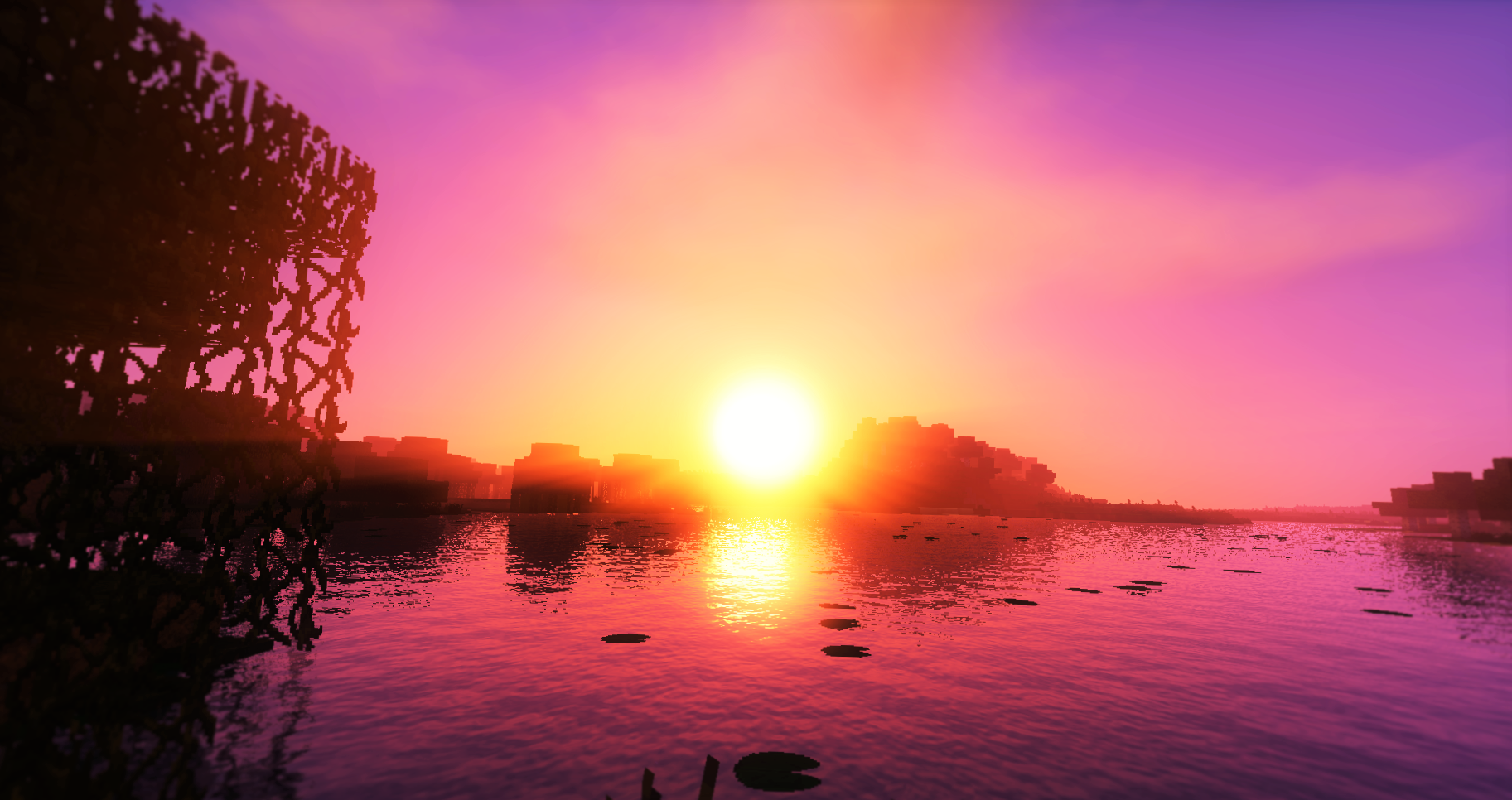 Sunshine Wallpaper and Background Image | 1825x966 | ID ... - Fond D'ecran Minecraft