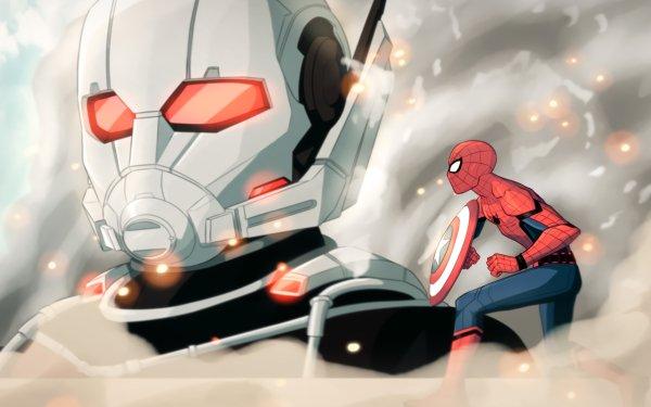 Film Captain America: Civil War Captain America Spider-Man Ant-Man Giant-Man Peter Parker Fond d'écran HD | Image