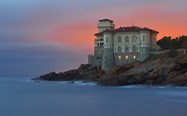 Man Made Building Buildings Architecture Lighthouse Livorno Italy Ocean HD Wallpaper | Background Image