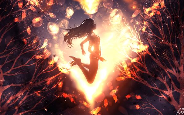 Anime Original Heart HD Wallpaper | Background Image