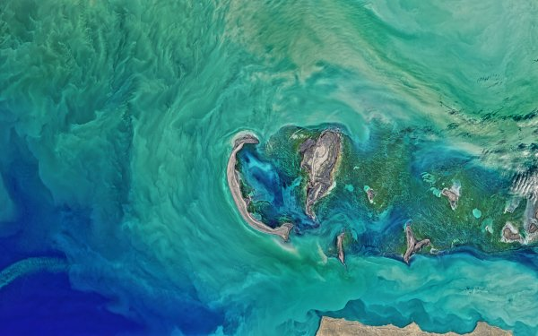 Earth From Space Aerial Ocean Caspian Sea HD Wallpaper | Background Image