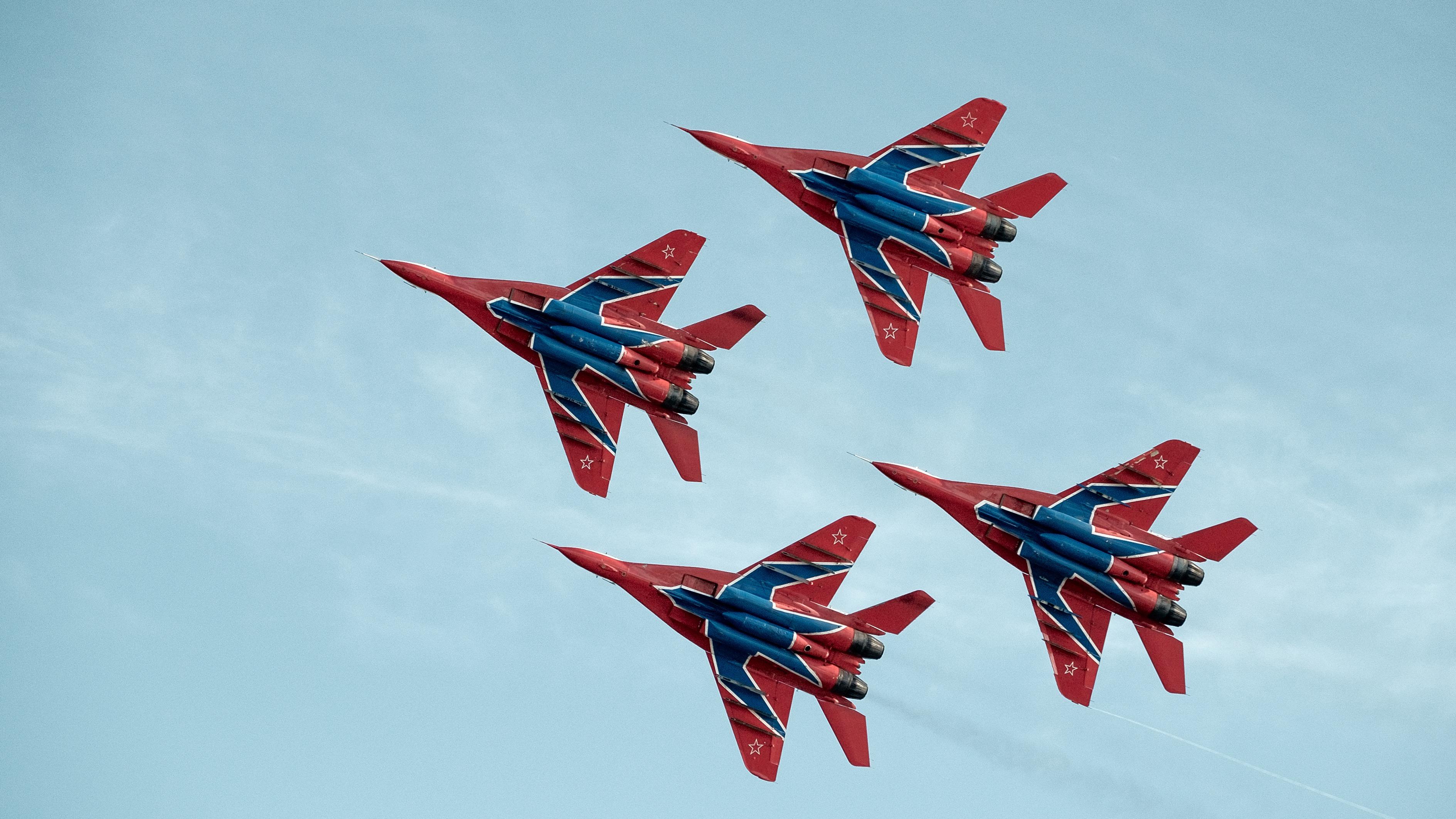 Russian Air Force Aerobatic Performance Demonstration Team Strizhi