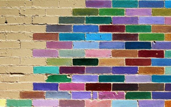 Photographie Brique Mur Couleurs Colorful Texture Fond d'écran HD | Image