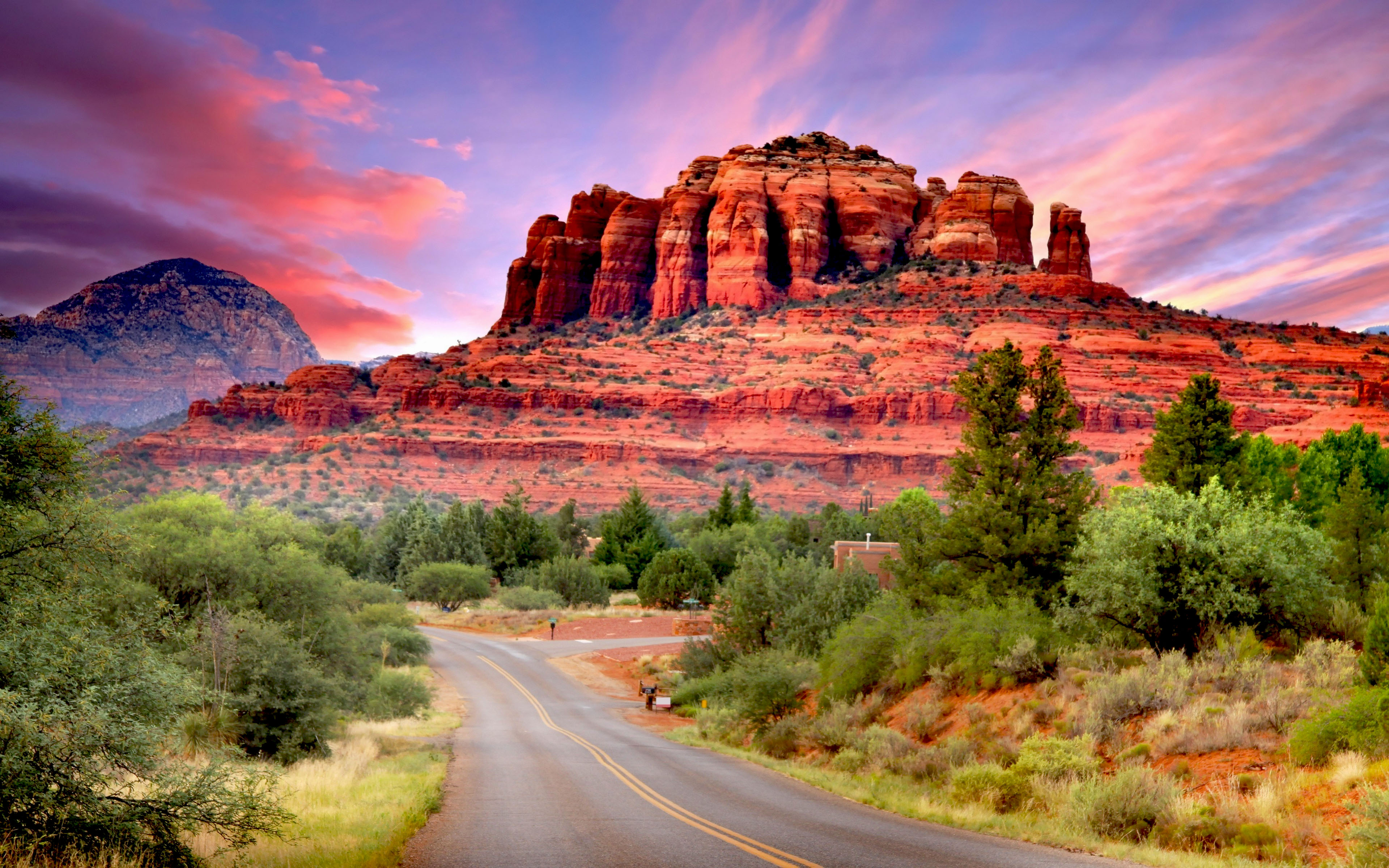 Road To Canyon In Arizona 4k Ultra Hd Wallpaper Background
