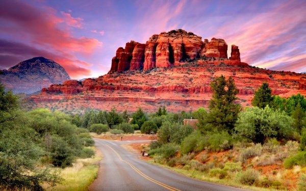 Man Made Road Sedona Arizona Canyon HD Wallpaper | Background Image