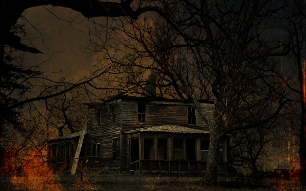 Dark House Halloween Abandoned Haunted House Ruin HD Wallpaper | Background Image