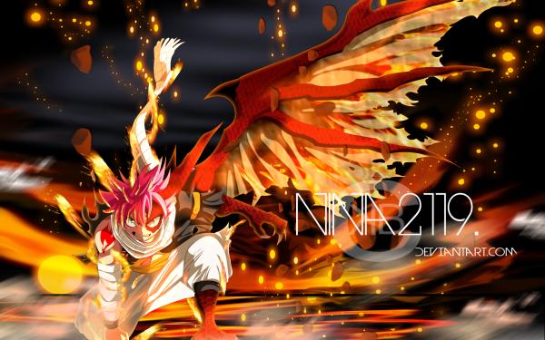 Anime Fairy Tail Natsu Dragneel Feu Scarf Fond d'écran HD   Image