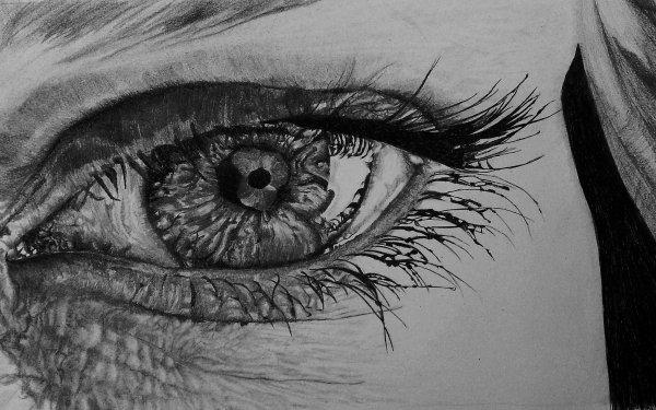 Artistic Eye Drawing Pencil HD Wallpaper | Background Image