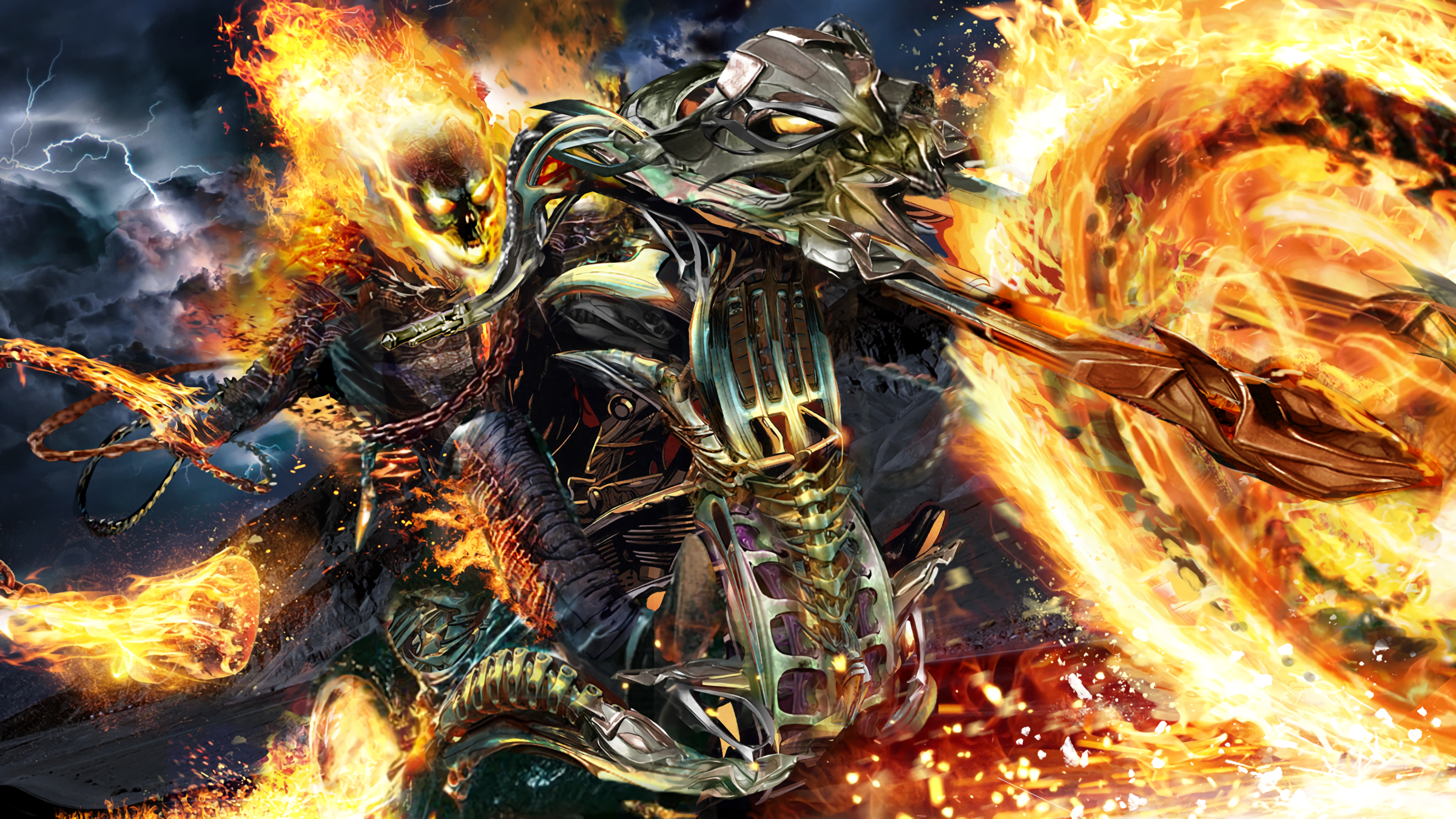 ghost rider full hd wallpaper and background 2400x1350