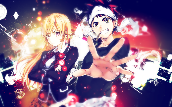 Anime Food Wars: Shokugeki no Soma Erina Nakiri Sōma Yukihira Shokugeki No Soma HD Wallpaper | Background Image