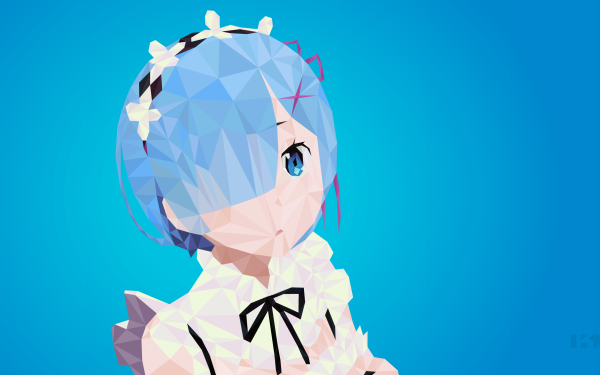 Anime Re:ZERO -Starting Life in Another World- Rem Blue Hair Blue Eyes Headband HD Wallpaper | Background Image