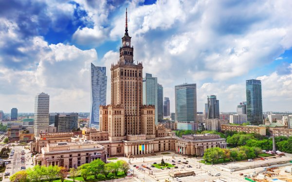 Man Made Warsaw Cities Poland Building Skyscraper City HD Wallpaper | Background Image