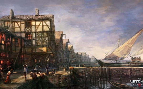 Jeux Vidéo The Witcher 3: Wild Hunt The Witcher Fantaisie Concept Art Ville Novigrad Fond d'écran HD   Image