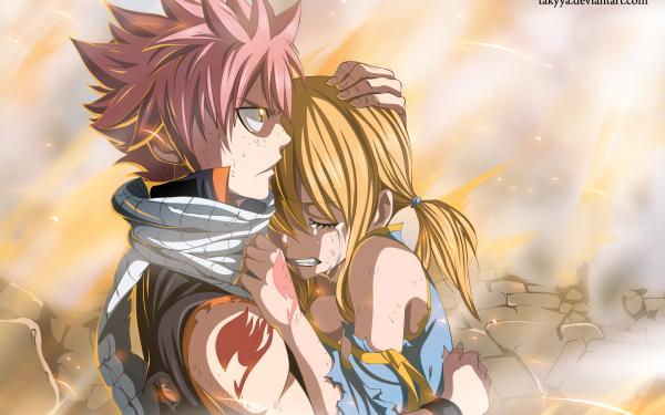 Anime Fairy Tail Lucy Heartfilia Natsu Dragneel HD Wallpaper | Background Image