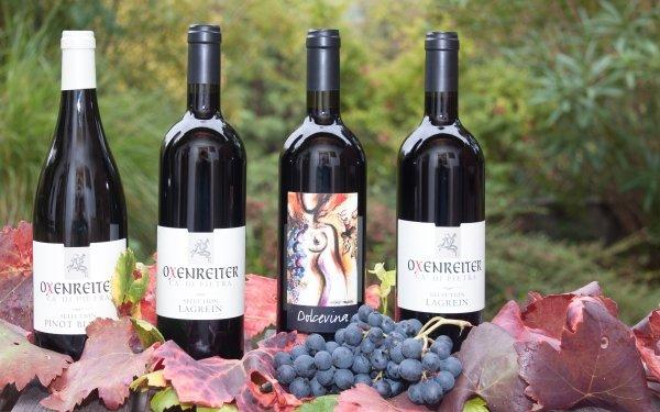 Food Wine Alcohol Grapes Leaf Bottle HD Wallpaper | Background Image