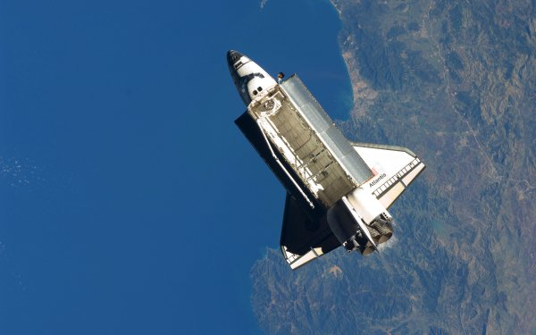 Vehicles Space Shuttle atlantis Space Shuttles Space Aerial NASA International Space Station HD Wallpaper | Background Image