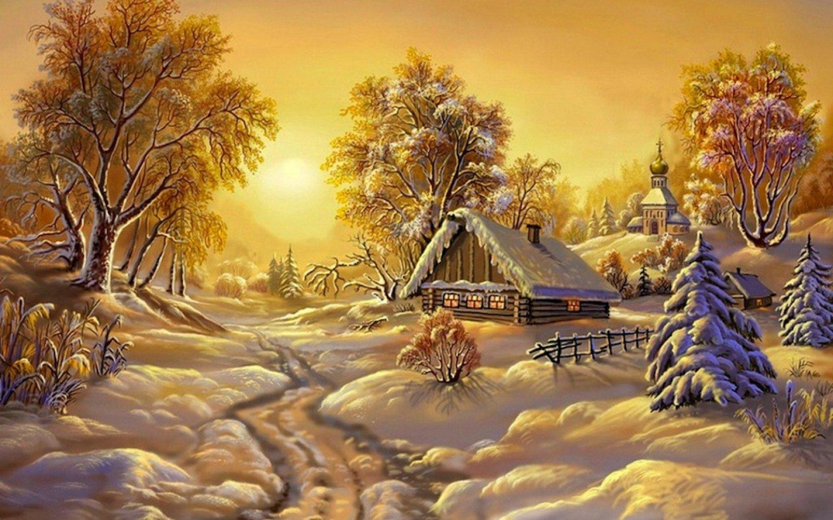 Зимний пейзаж на рабочий стол картинки