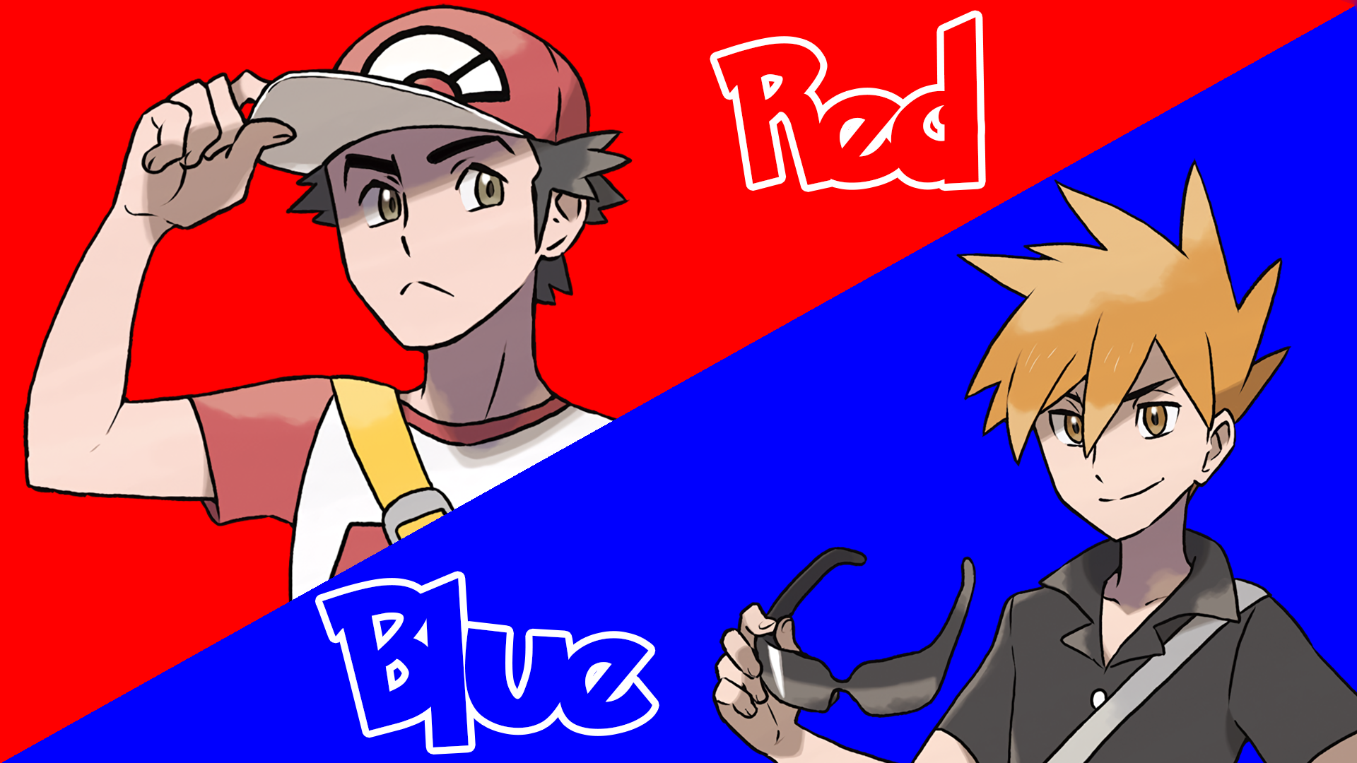 Red And Blue In Pokemon Sun And Moon Hd Wallpaper Background