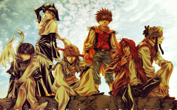 Anime Saiyuki Cho Hakkai Sha Gojyo Genjo Sanzo Goku Gat Hazel Grouse Saiyuki Reload Fondo de pantalla HD   Fondo de Escritorio