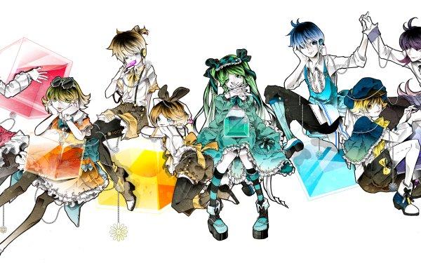 Anime Vocaloid Hatsune Miku Rin Kagamine Len Kagamine Meiko Kaito Kamui Gakupo GUMI Oliver HD Wallpaper | Background Image