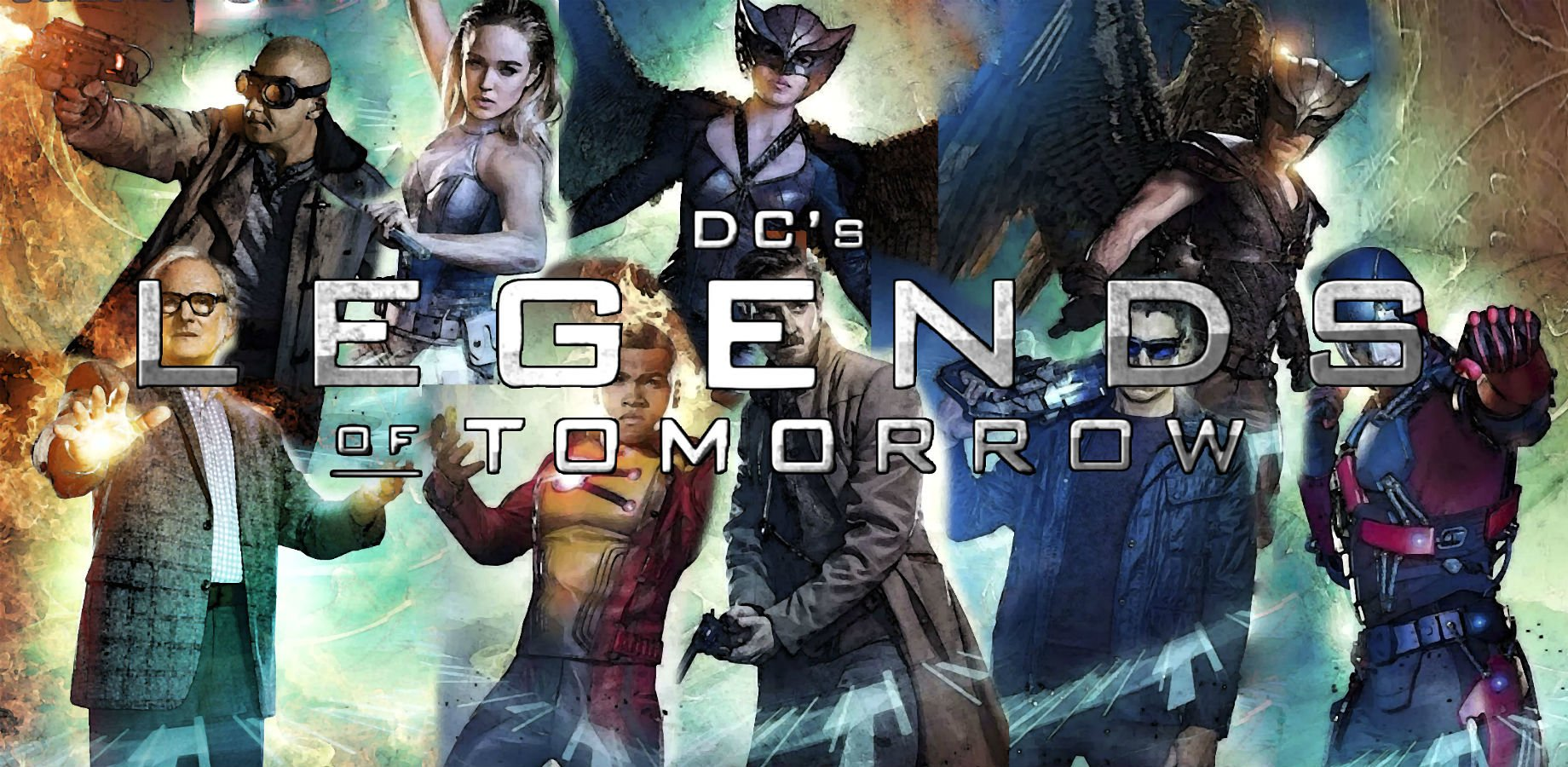TV Show - DC's Legends Of Tomorrow  Heat Wave (DC Comics) White Canary (DC Comics) Hawkgirl Hawkman Martin Stein Firestorm (Comics) Rip Hunter Captain Cold Atom (DC Comics) Wallpaper