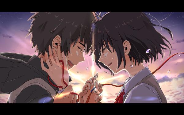 Anime Your Name. Mitsuha Miyamizu Taki Tachibana Kimi No Na Wa. HD Wallpaper   Background Image