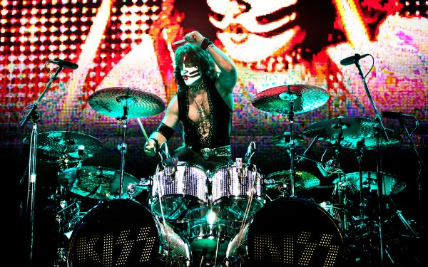 Music KISS Band (Music) United States Drum Set Peter Criss HD Wallpaper   Background Image