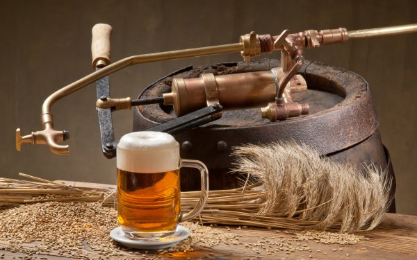 Food Beer Drink Alcohol Still Life Barrel Glass HD Wallpaper | Background Image